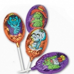 Madelaine Chocolates Milk Chocolate Foil Wrapped Monster Lollipops 40 Count Box