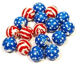 Madelaine Chocolate Stars and Stripes Chocolate Balls, (5 Pounds)