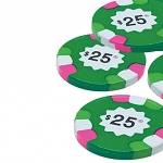 Madelaine 25 Dollar Chocolate Poker Chips, (10 Pounds)