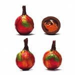 Madelaine Chocolates Milk Chocolate With Caramel Foil Wrapped Apples 40 Count Tub
