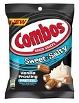 Combos Sweet and Salty Vanilla Frosting Pretzels, (Pack of 12)