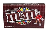 M & M Milk Chocolate Movie Theater Size Candy, (Pack of 12)