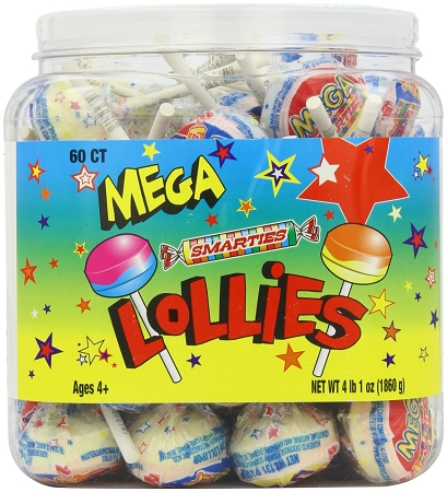 Smarties Mega Double Lollies Tub | Theonlinecandyshop.com ... Smarties Lollipops
