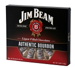 Very Special Chocolates Jim Beam Liquor Filled Chocolate Bottles, (Pack of 12)