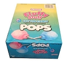Fluffy Stuff Cotton Candy Lollipops, (48 Pack)