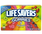 Lifesavers Gummies 5 Flavor Movie Theater Size Boxes, (Pack of 12)