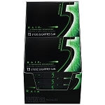 Wrigleys Five Rain Spearmint Gum Slim Pack, (Pack of 10)