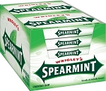 Wrigleys Spearmint Gum Slim Pack, (Pack of 10)