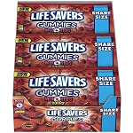 Lifesavers Gummies Mix O Reds Share Size Candy, (Pack of 15)