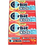 Orbit Kids Strawberry Banana Bubble Gum, (Pack of 12)