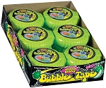Bubble Tape Sour Apple Flavor, (Pack of 12)