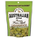 Wiley Wallaby Green Apple Licorice Candy 10 Ounce Bags, (Pack of 10)
