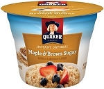 Quaker Oatmeal Maple and Brown Sugar Single Serve Cups, (Pack of 24)