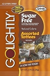 Go Lightly Sugarfree Assorted Toffees, 2.75 Ounce Bags, (Pack of 12)