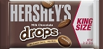 Hersheys Milk Chocolate Drops King Size Candy, (Pack of 18)