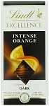 Lindt Excellence Intense Orange Dark Chocolate Bars, (Pack of 12)