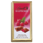 Lindt Milk Chocolate Raspberry Bars, (Pack of 12)