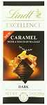Lindt Excellence Caramel Sea Salt Dark Chocolate Bars, (Pack of 12)
