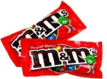 M and M Peanut Butter Candy, (Pack of 24)