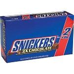 King Size Snickers Triple Chocolate Candy, (Pack of 24)