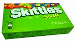 Skittles Sour Candy Movie Size Box, (Pack of 12)
