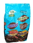 Twix Milky Way 3 Musketeers Snickers M&M Variety Pack, (Pack of 135)