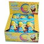 Sponge Bob Lollipop Rings, (Pack of 24)