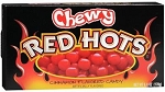 Chewy Red Hots Candy Movie Size Box, (Pack of 12)