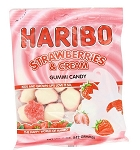 Haribo Strawberries and Cream, (Pack of 12)