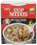 Nissin Cup O Noodles Spicy Chile Chicken Flavor, (Pack of 12)