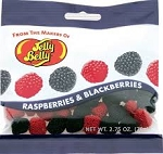 Jelly Belly Raspberries & Blackberries, (12 Pack)
