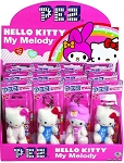 Hello Kitty Plush Keychain Pez Dispensers, (Pack of 12)