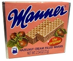Manner Hazelnut Cream Wafers, (Pack of 12)