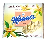 Manner Vanilla Cream Wafers, (Pack of 12)