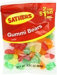 Sathers Gummy Bears, (Pack of 12)