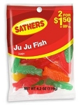 Sathers Ju Ju Fish, (Pack of 12)