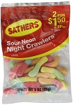 Sathers Sour Neon Crawlers, (Pack of 12)