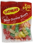 Sathers Sour Gummy Bears, (Pack of 12)