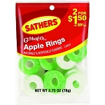 Sathers Gummy Apple Rings, (Pack of 12)