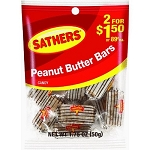 Sathers Peanut Butter Bars, (Pack of 12)