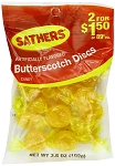 Sathers Butterscotch Discs, (Pack of 12)