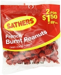 Sathers Burnt Peanuts , (Pack of 12)