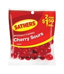 Sathers Cherry Sours, (Pack of 12)
