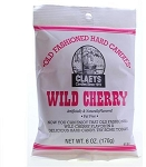 Claeys Candy Wild Cherry Flavored Hard Candy, (Pack of 24)