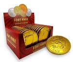 Fort Knox Giant 2 Ounce Chocolate Coin Medallions 20 Packs, (Pack of 12)