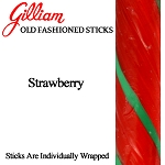 Gilliam Old Fashioned Strawberry Stick Candy, (Pack of 80)