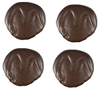 Asher's 2 Ounce Dark Chocolate Covered Mint Patties, (Pack of 36)