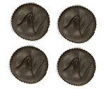 Asher's Dark Chocolate Jumbo Peanut Butter Cups, (Pack of 24)