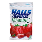 Halls Vitamin C Strawberry (12 Bags)