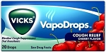Vicks Cherry Cough Drops, (Pack of 20)